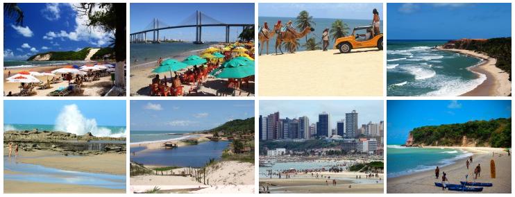 lindas e populares praias de natal