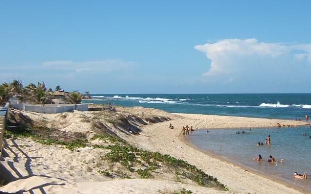 Praia de barreta mar caminhada